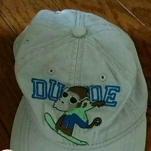 """So cute Monkey  """"DUDE"""" little Boy Hat"""